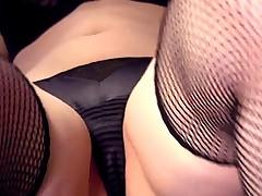Closeup Masturbation In Fishnet Stockings And Gloves