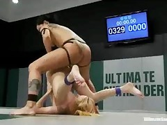 Blonde Strapon Toy Gangbanged By Two Girls