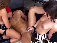 Strapon Babes Fuck Male