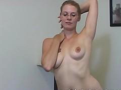 Masturbation Teacher Gets Totally Naked For Cock Teasing