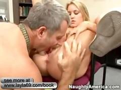 Sexy Blonde Schoolgirl Rides Her Teachers Big Cock In Class