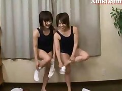 Asian Schoolgirls Fun With Teacher At School