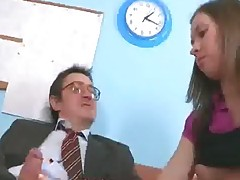 Old Teacher Makes His Teen Student Do It With Him