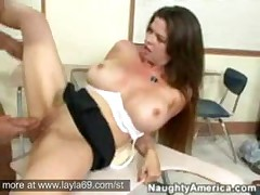 Mature Brunette Teacher With Huge Tits Rocks One Of Her..
