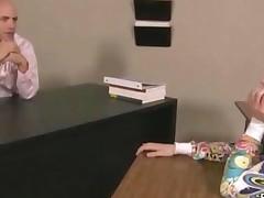 Tiny Teen Girl Gives Teacher A Blowjob