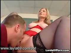 Blonde Teacher Gets Ass Fucked