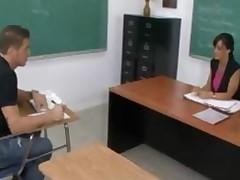 Milf Teacher Lisa Ann Takes Cumshot