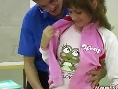 Schoolgirl Seducing Her Teacher