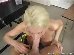 Hot Cheerleader Titfuck!