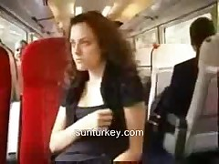 Amateur Woman Shows In The Train