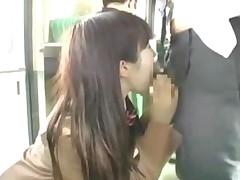 Schoolgirl Rubbing Business Man Cock Giving Blowjob Fingered..