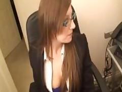 Office Babe Secretary Rough Interracial Oral Blowjob Black..