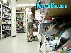 Cute Teen Upskirt In A Store