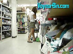Cute Teen Upskirt In A Store