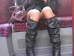 Asian Upskirt On London Underground