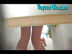 Hot Blonde Upskirt And Changing In A Fitting Room
