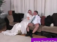 Dominatrix Bride Punishing Husband
