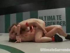 Two Tiny Catfighters In Public Hard Sexual Wrestling