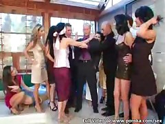 Catfight Becomes 5-Way Lesbo Orgy