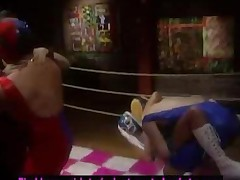 Wrestling The Pussy In The Ring