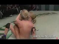 Lesbian Tag Team Nude Wrestling