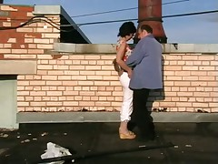 Amateur couple on the roof