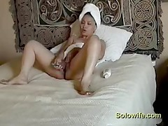 Milf Caught Masturbating After Shower