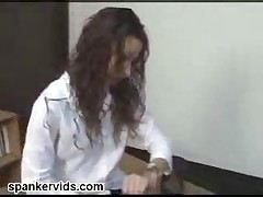 Schoolgirl Gets Bent Over And Spanked Hard By Her Lesbian..