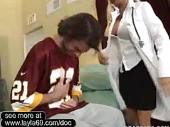 Doctor Richards Fucks The Football Coach In Her Office