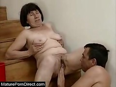 Granny Sucking, Fisting And Fucking