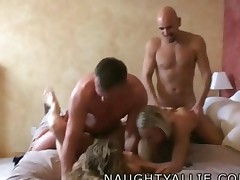 Trading Spouses Amateur Swinger Foursome Orgy