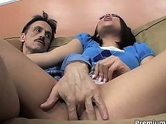 Hottie obtains weird guy cock
