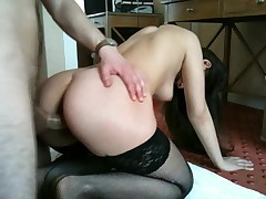 Epic cumshot. Hot girl sucking