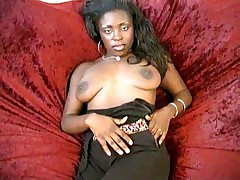 Hot black chick on couch