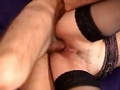 Massive fake tits bimbo slut anal sex