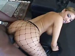 Monstrous black cock fucks big tits Asian