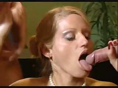 Slender office girl hardcore double penetration