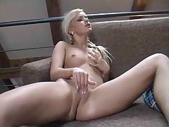 Bridgette with pigtails makes a porn
