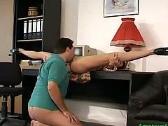 Flexible gymnast hard fucked