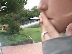 Petite Girl Smoking And Taking 2 Cocks