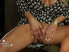 Busty Rachel Aziani Shows Off With Her Glass Toy!