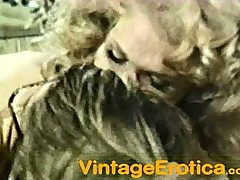70's Blond gets Anal sexe And a Nice Load in the Mouth