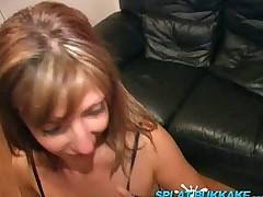 Sexy new babe Lexis debut bukkake