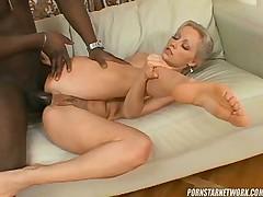Gorgeous petite slut on black dick