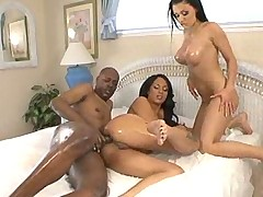 Oiled Butts Pounded By A Black Cock