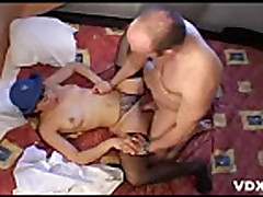 A french mature fucked in a car