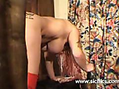 X Bizarre anal fist fucked submissive slave