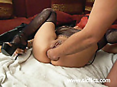 Extreme anal fist fucked submissive housewife