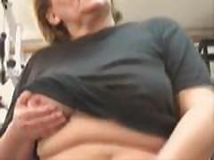 Mature BBW Ass workout