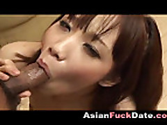 Japanese girl gives great blowjob